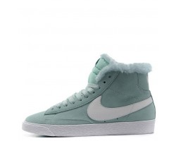 Кроссовки Nike Dunk Hight Mint С МЕХОМ