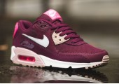 Кроссовки Nike Air Max 90 Essential Burgundy/White/Pink - Фото 1