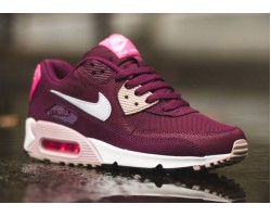 Кроссовки Nike Air Max 90 Essential Burgundy/White/Pink