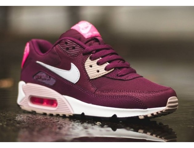 Кроссовки Nike Air Max 90 Essential Burgundy/White/Pink