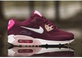 Кроссовки Nike Air Max 90 Essential Burgundy/White/Pink - Фото 3