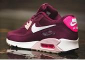 Кроссовки Nike Air Max 90 Essential Burgundy/White/Pink - Фото 2