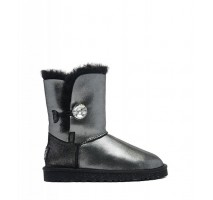 UGG BAILEY BUTTON II BOOT LEATHER I DO BLACK