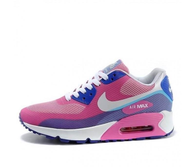 375427ed Кроссовки Nike Air Max 90 Hyperfuse Premium Peach/Blue/White купить ...
