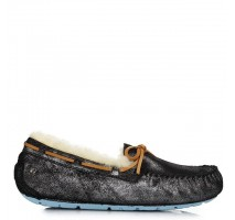 UGG DAKOTA SLIPPER BLACK/SILVER