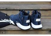 Кроссовки Nike Huarache X Acronym City MID Leather Navy/White - Фото 3