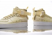 Кроссовки Nike SF Air Force 1 Utility Mid Cream - Фото 5