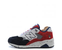 Кроссовки New Balance 580 Winter Blue/White/Red С МЕХОМ