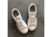 Кроссовки Nike Blazer Low Leather White/Silver - Фото 2
