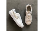 Кроссовки Nike Blazer Low Leather White/Silver - Фото 4