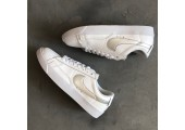 Кроссовки Nike Blazer Low Leather White/Silver - Фото 3