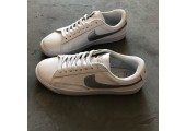 Кроссовки Nike Blazer Low Leather White/Silver - Фото 8