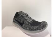 Кроссовки Nike Free Run Flyknit Grey Wind - Фото 2