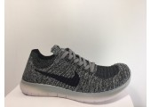 Кроссовки Nike Free Run Flyknit Grey Wind - Фото 1