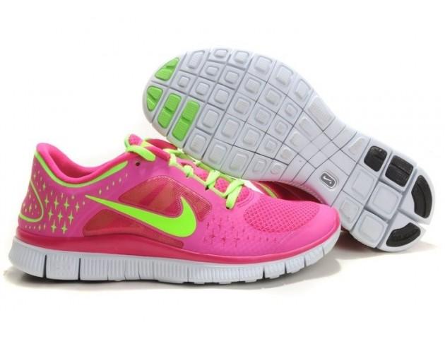 Кроссовки Nike Free Run Plus 3 Rose/Lemon