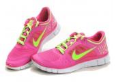 Кроссовки Nike Free Run Plus 3 Rose/Lemon - Фото 6