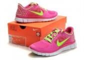 Кроссовки Nike Free Run Plus 3 Rose/Lemon - Фото 4