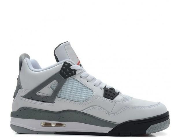 Баскетбольные кроссовки Nike Air Jordan Retro 4 White/Black