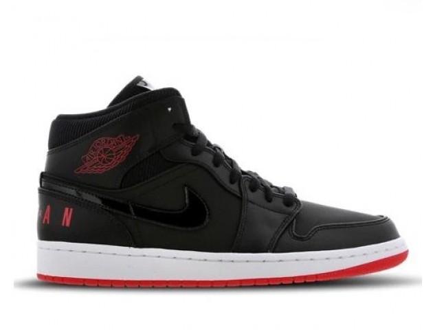 Баскетбольные кроссовки Nike Air Jordan 1 Mid Winterized Black/Red