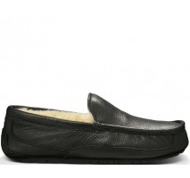 UGG ASCOT SLIPPER LEATHER BLACK
