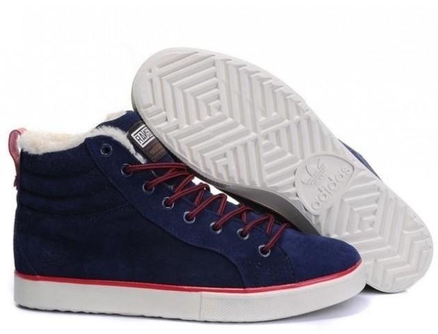 Кроссовки Adidas Ransom Fur Blue С МЕХОМ