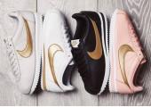 Кроссовки Nike Cortez Glitter Pack Rose/Gold - Фото 3