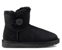 UGG MINI BAILEY BUTTON II BOOT BLACK