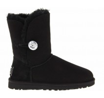 UGG BAILEY BUTTON II BLING BOOT BLACK