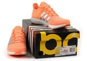 Кроссовки Adidas Gazelle Boost W Orange/Silver/White - Фото 2