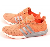 Кроссовки Adidas Gazelle Boost W Orange/Silver/White