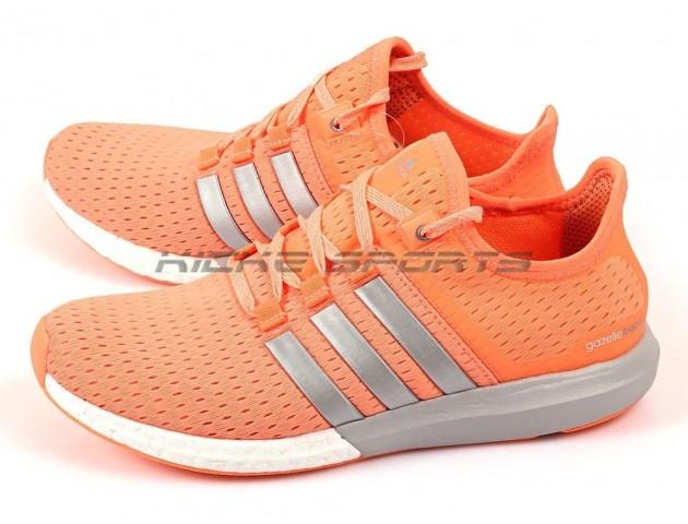 Кроссовки Adidas Gazelle Boost W Orange/Silver/White
