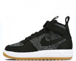 Кроссовки Nike Lunar Force 1 Flyknit Workboot Black/White/Grey