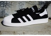Кроссовки Adidas Superstar 80s Primeknit Black/White - Фото 1