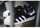 Кроссовки Adidas Superstar 80s Primeknit Black/White - Фото 2