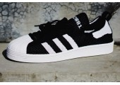 Кроссовки Adidas Superstar 80s Primeknit Black/White - Фото 3