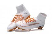 Футбольные бутсы Nike Mercurial Superfly V FG White/Chocolat - Фото 10