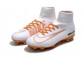Футбольные бутсы Nike Mercurial Superfly V FG White/Chocolat - Фото 4