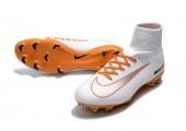 Футбольные бутсы Nike Mercurial Superfly V FG White/Chocolat - Фото 6