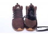Кроссовки Adidas Neo Winter Chocolate С МЕХОМ - Фото 7
