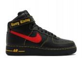 Кроссовки Nike Air Force 1 High Black/Red/Yellow - Фото 2