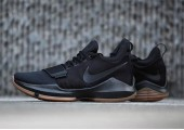 Кроссовки Nike PG 1 Black/Gum - Фото 2