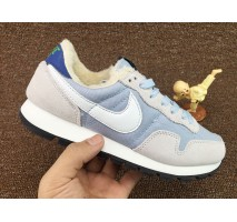 Кроссовки Nike Internationalist Light Blue/White С МЕХОМ