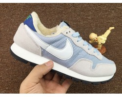 Кроссовки Nike Internationalist Light Blue/White С МЕХОМ