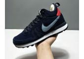 Кроссовки Nike Internationalist Navy Blue С МЕХОМ - Фото 1