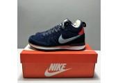 Кроссовки Nike Internationalist Navy Blue С МЕХОМ - Фото 5