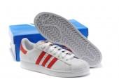 Кроссовки Adidas Superstar II White/Red - Фото 7