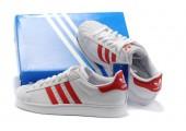 Кроссовки Adidas Superstar II White/Red - Фото 8