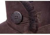 UGG MINI BAILEY BUTTON II BOOT CHOCOLATЕ - Фото 4