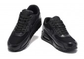 Кроссовки Nike Air Max 90 Premium Triple Black - Фото 3