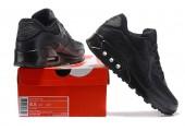 Кроссовки Nike Air Max 90 Premium Triple Black - Фото 5